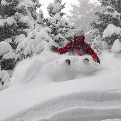 Lee Townend Skiing Powder