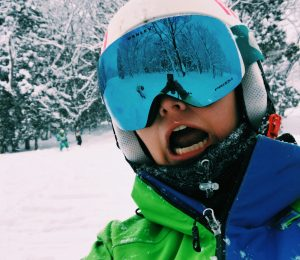 Snoworks GAP ski instructor in Japan on GAP course